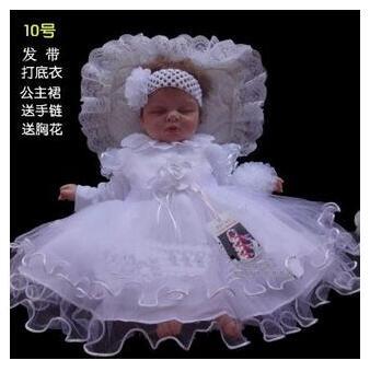 Baby Girl Baptism Christening Gown Wedding Dresses Newborn Formal
