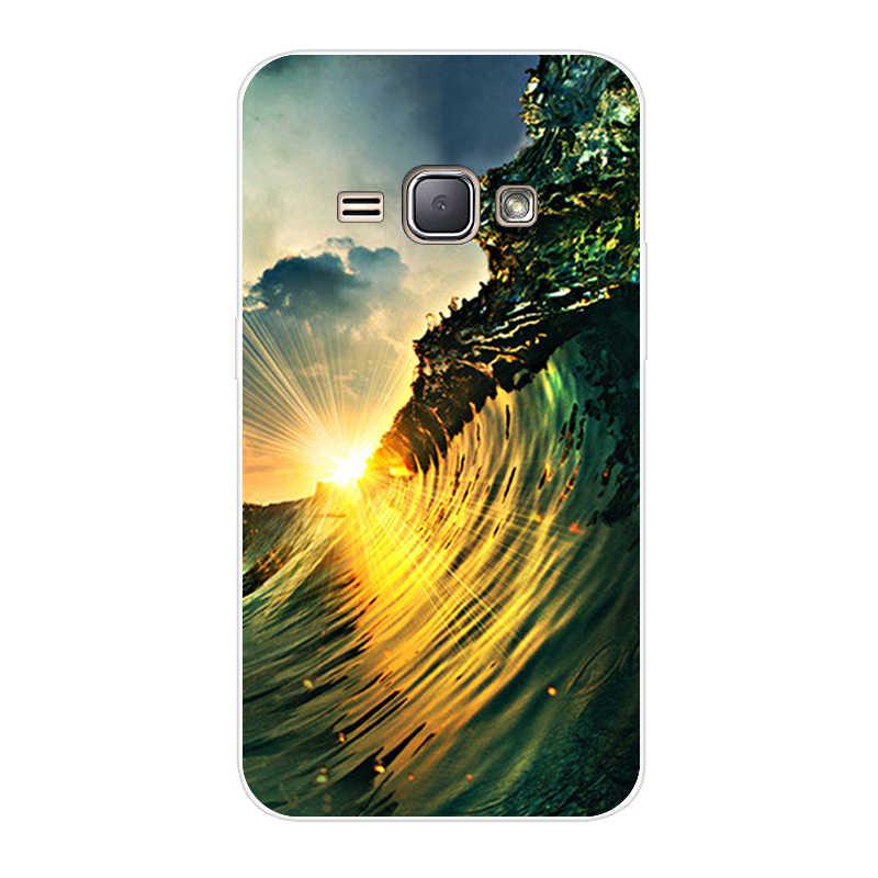 J16 SM-J120F/DS 120 F J 1 2016 Duos caso para Samsung Galaxy J1 2016 SM-J120F 3D impresión suave cubierta de silicona SM J120F DS J12016