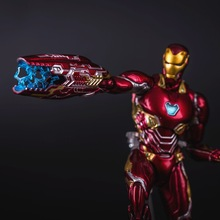 Avengers Infinity War MK50 Iron Man PVC Acion Figure Toy Movable Avengers Hero  Iron Man Display Collection Model Toy Gift Jouet pandadomik unique resin large ultron toy figure movie model iron man toy avengers figurine decor gift toys for boys kids hobbies