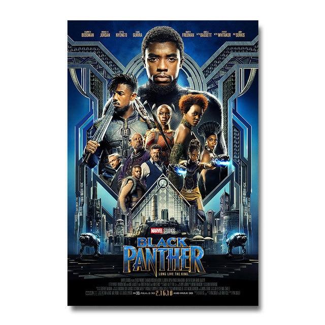 Плакат Гобелен Черная пантера Материал Шелк