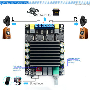 Image 5 - TDA7498 דיגיטלי מגבר אודיו לוח DC12 36V 2*100 w כוח אודיו Amp 2.0 Class D מגברי סטריאו B9 003