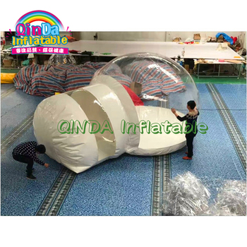 Factory price igloo transparent PVC clear inflatable air dome bubble tent transparent bubble tent factory inflatable bubble camping tent with double rooms waterproof photobooth bubble sleeping tents inflatable clear dome tent