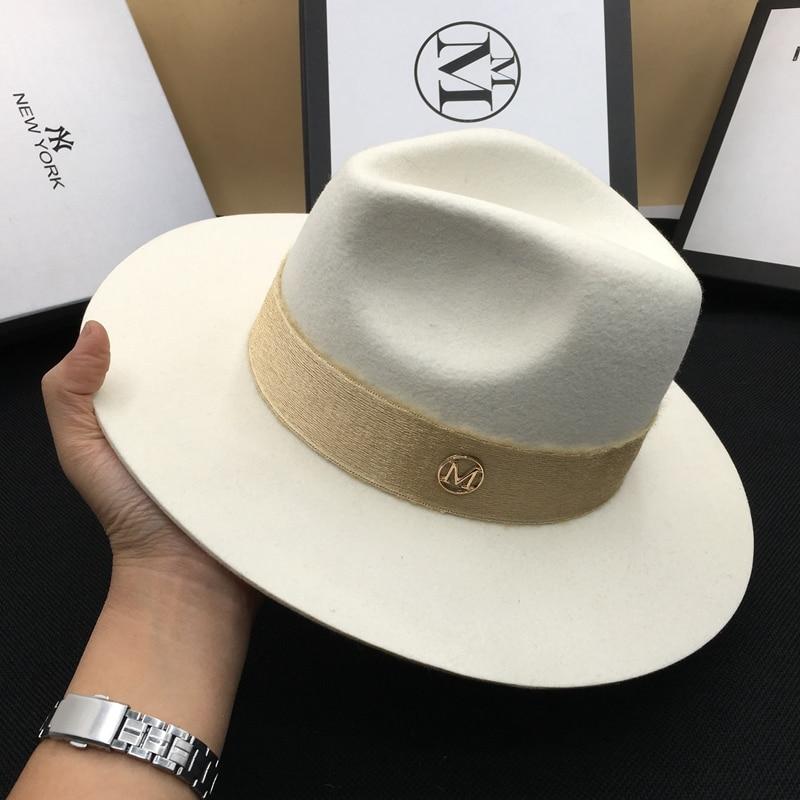 57ef9765bf0c8 VTG Brand Wool Men s Black Dad Fedora Hat For Gentleman Woolen Wide Brim  Jazz Church Cap Vintage Panama Sun Top Hat 20