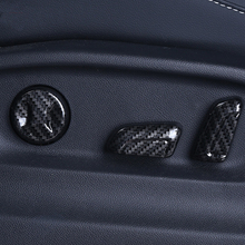 ABS Interruptor de ajuste de Assento de fibra De Carbono Estilo Do Carro guarnição tampa 6 pcs para VW Volkswagen Golf 7 MK7 acessórios do carro estilo 2016-18