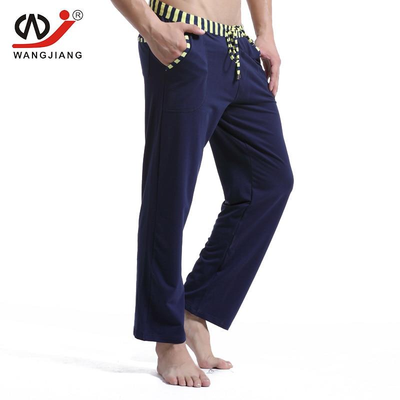 Men cotton long pants   Men's casual trousers soft comfortable Men's Sleep Bottoms Homewear  pants pajama loose Lounge
