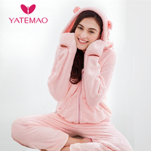 YATEMAO Lovely Thickened Maternity Clothes Pajama Sets Prega