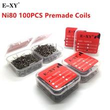 Ni80 ए 1 एसएस 316 एल कुंडल तार कोइलिंग प्रीबिल्ट कॉइल प्रतिरोध DIY आरडीए आरटीए आरडीटीए एटोमाइज़र के लिए इलेक्ट्रॉनिक सिगरेट वेप ताप तार