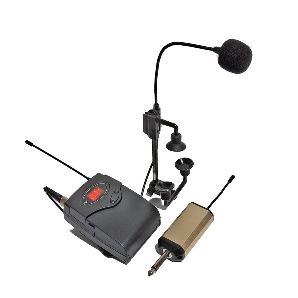PGA98H Saxophone trumpet wireless microphone system brass instrument gooseneck mic UHF transmitter receiver set rechargeable in Microphones from Consumer Electronics