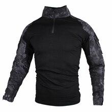 Мужские тактические походные рубашки мультикамера Военная Маскировочная Военная Мужская рубашка с длинными рукавами охотничьи футболки большого размера 5XL