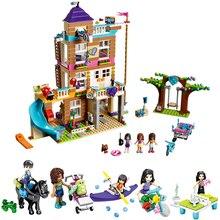 Новая серия для девочек Heartlake, Дом дружбы, игрушки для девочек, для детей, набор строительных блоков, кирпичи, подарки для детей