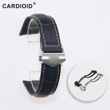 20 мм/22 мм/24 мм ремешок для часов из коровьей кожи для Rolex Монако серии Для мужчин качество, лента для волос Мягкий браслет для часов для Rolex кабель-браслет на запястье