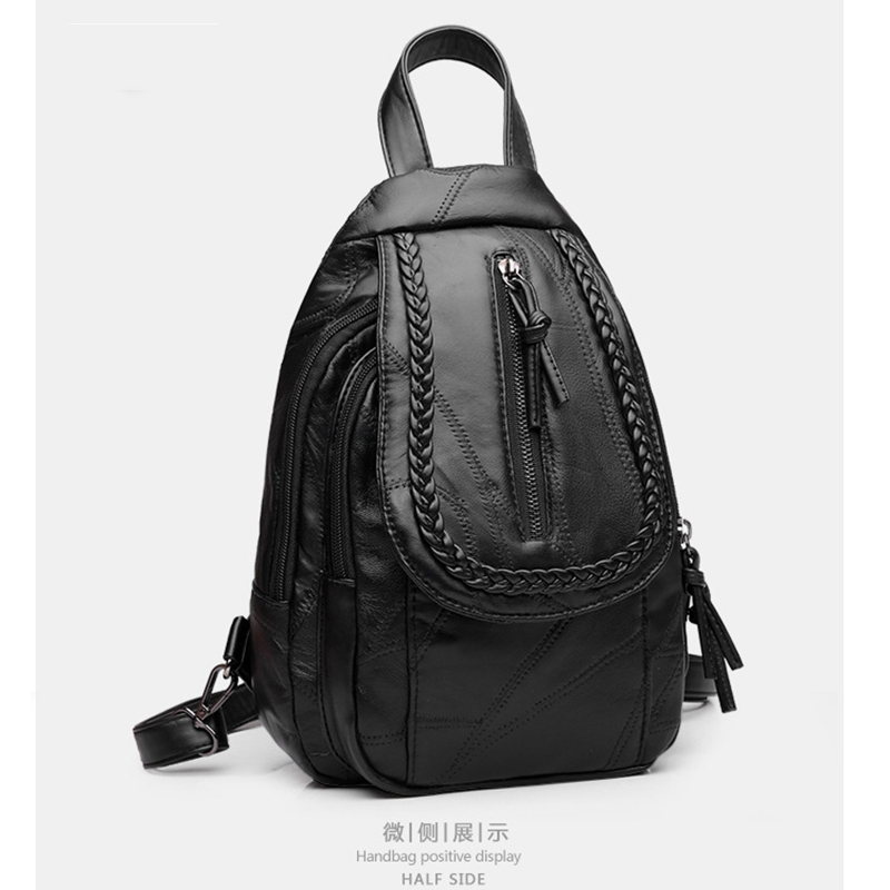 Fashion Backpack Real Leather Backpacks Genuine Leathe Women Backpack School Bags backpacks Female back pack casual shoulder