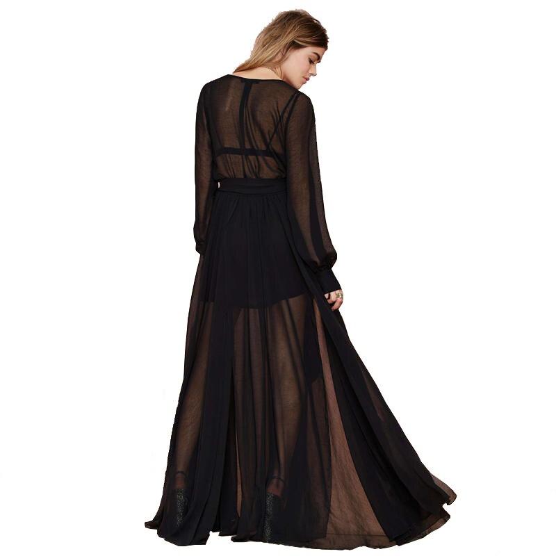 Black chiffon maxi dress plus size