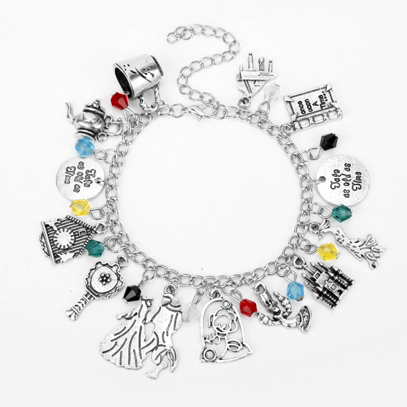 dongsheng Beauty and the Beast Princess Bracelets for Women Charms Wristbands Once Upon a Time Jewelry Bangles Gift -25