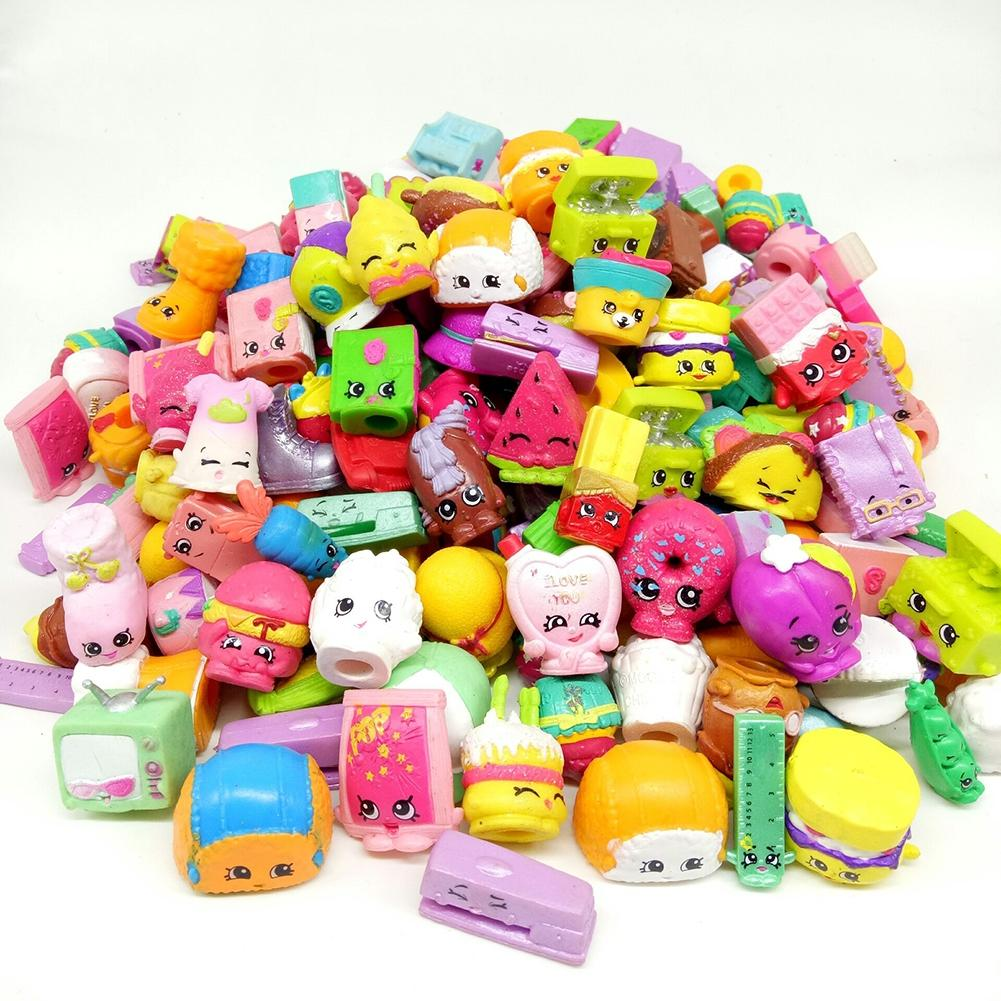 LeadingStar 50 Pcs Random Cartoon Character Doll Toy Time Shop Action Figure Doll Kins to Pretend Play zk30