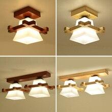 Lampa sufitowa z litego drewna balkon amerykański skandynawski nowy chiński alejek światła korytarz lw417627