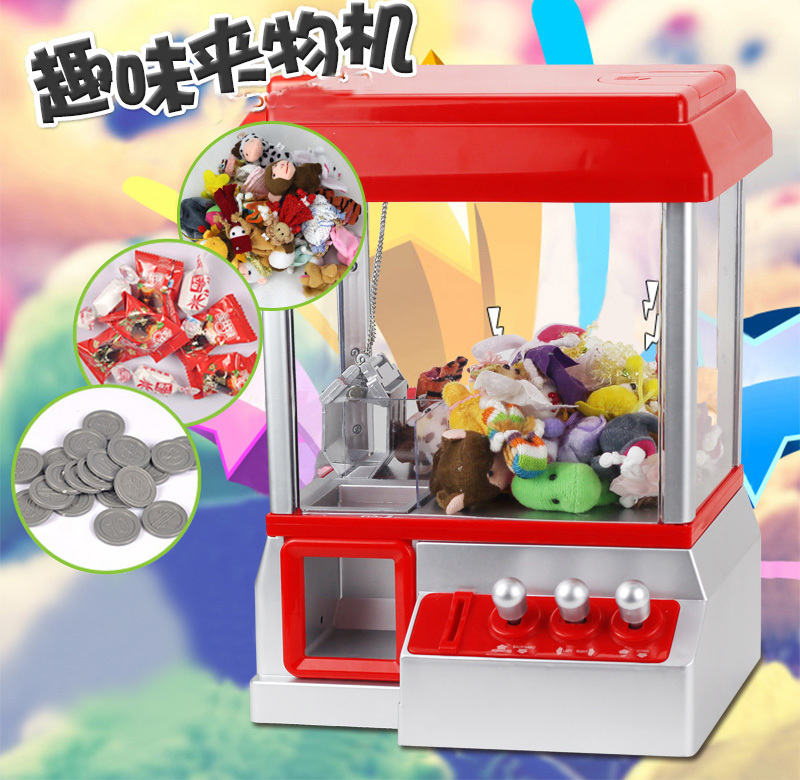 Hot!!! Personalized Creative Electric crane machine Arcade Cabinet Game Music Timer Control Coin Acceptor Crane Operated Games good quality coin operated tabletop gumball vending machine desktop capsule vending cabinet toy penny in the slot coin vendor