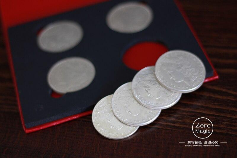 M 16 (Morgan) de Aleksandr Gold, bombardero de monedas (versión de monedas de Morgan), gire a 16, moneda, truco, ilusión, primer plano, utilería, trucos de magia-in Trucos de magia from Juguetes y pasatiempos    1