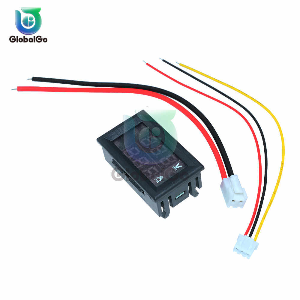 Mini Digital Voltmeter Ammeter DC100V 10A แผง Amp Volt เครื่องวัดแรงดันไฟฟ้าเครื่องทดสอบสีน้ำเงินสีแดง LED เครื่องมือ