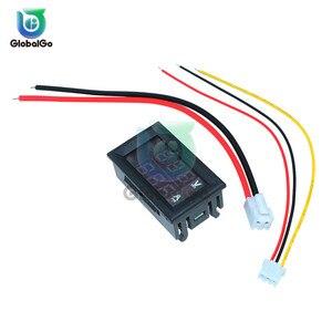 Mini Digital Voltmeter Amperemeter DC100V 10A Panel Amp Volt Spannung Strom Meter Tester Blau Rot Dual Led-anzeige Voltmeter Werkzeug