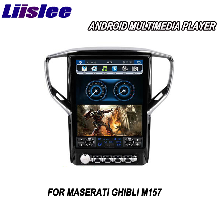 Liislee 2 din Android pour Maserati Ghibli M157 2013 ~ 2018 lecteur multimédia de voiture GPS Navigation vidéo Radio Bluetooth
