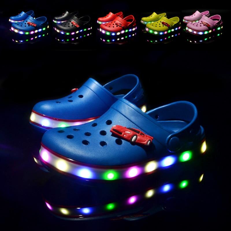 2021 New Kids Sandals Summer Shoes for Girls LED Beach Sandals EVA Shoes for Boys Sandals Children Shoes Flat Sandals 1