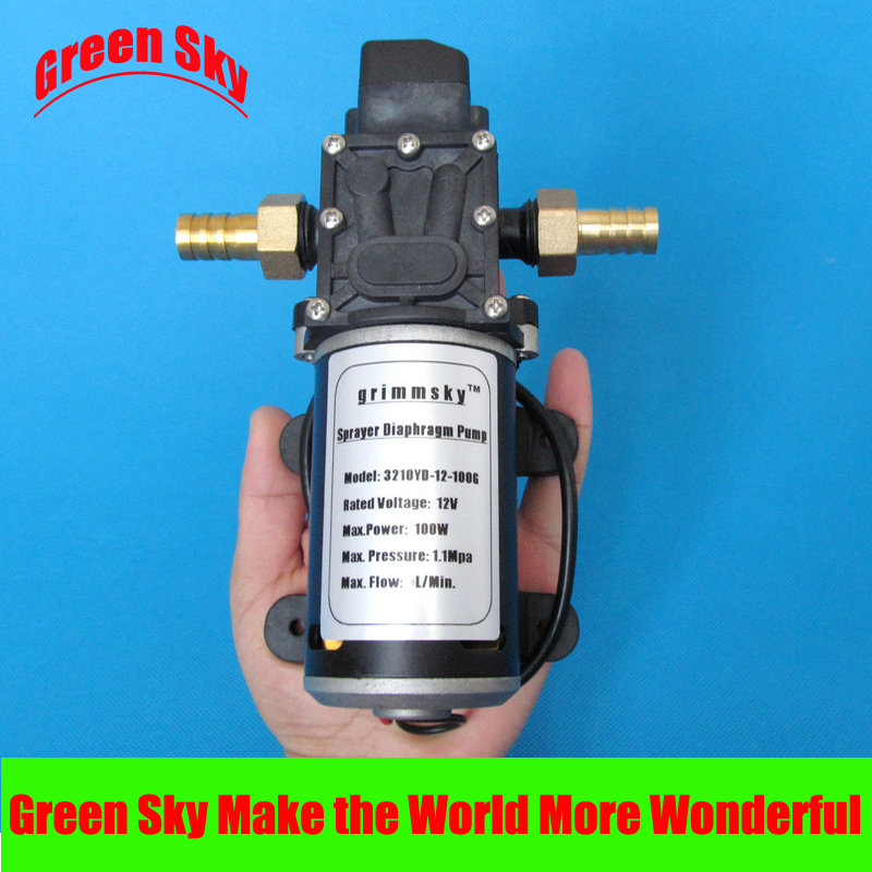 8L/Min DC 100W fog/spray/misting,spraying pesticide,farm,greenhouse,garden irrigation use 12v high pressure diaphragm pump dc 48v 750w solar submersible energy bomba borehole high pressure farm irrigation garden water pump hot pump 3spst2 3 80 d48 750