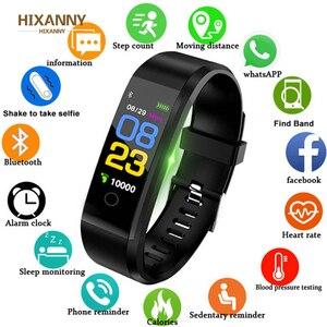 Relógio inteligente, pulseira, frequência cardíaca, pressão arterial, condicionamento físico, masculino homens