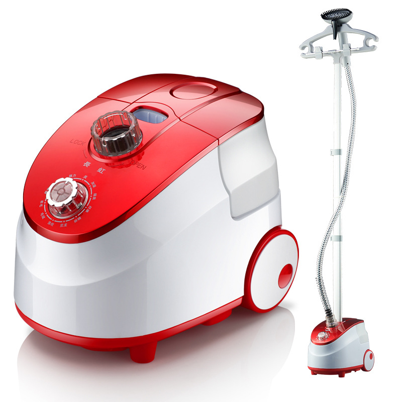Portable Garment Steam Iron For Clothes Vertical Hang 1800w Red 2.3l Teflon Backplane Continuous Steamer Output Irons 3 Gear fashion household electric vertical clothes steamer irons for ironing teflon non stick baseplate temperature control iron z30