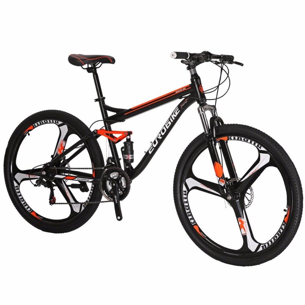 "Eurobike X1 27.5/"" Mens Mountain Bike Shimano 21 Speed Bicycle Disc Brakes MTB"