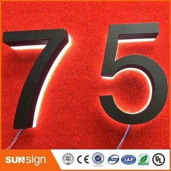 Wholesale illuminated house number plate halo lit house number led