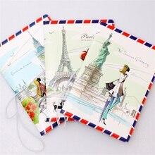 Love travel  Passport Cover ID Credit Card Bag 3D Design PVC Leather Business Card Holder Passport Holder 14*9.6CM
