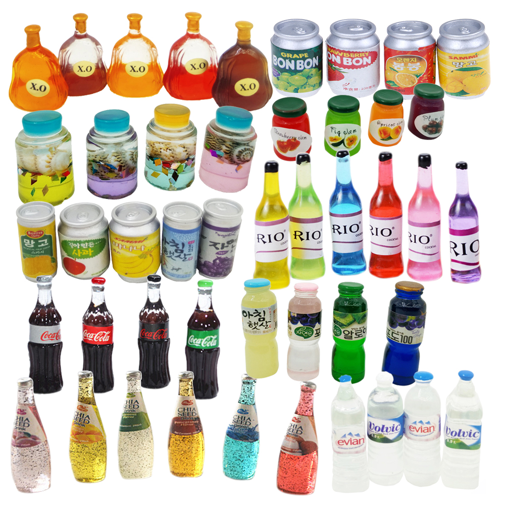 Dollhouse Miniature Bottle Model  Mini Food Doll Fit Toy Accessories Pretend Play Toy  Gift