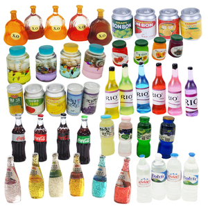 Dollhouse Miniature Bottle Model Mini Food Doll Fit Toy Accessories Pretend Play Toy Gift(China)