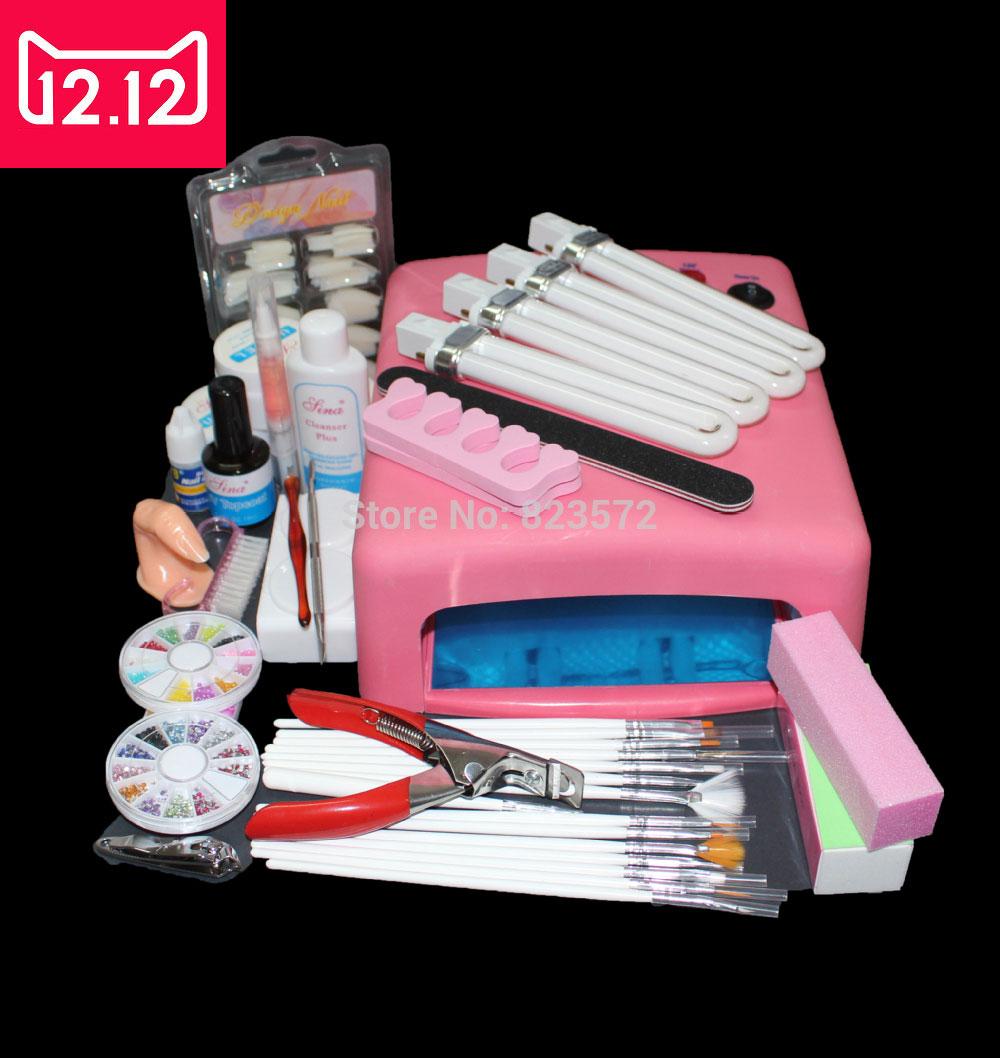 Em 81 Pro 36w Uv Gel Curing Bulb Lamp 15 Brush Pen File Nail Art