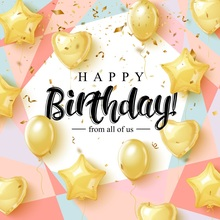 Laeacco Golden Balloons Happy Birthday Baby Party Photography Backgrounds Customized Photographic Backdrops For Photo Studio