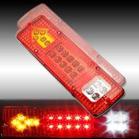 1 Pair 12 V 19 LED Samochodów Włącz Światła Tylne Ogona WSKAŹNIK Zatrzymania boczne Przystanku Kontrolka Lampy LED Tylne Światła na Karawany