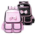 2014 PU Primary School Backpacks Suitable For 2-6 Grade Students Girls Princess Pink Double Shoulder Backpacks mochila escolar