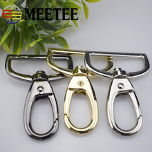 4pcs Meetee 38mm Metal Buckles Bag Purse Shoulder Strap Belt Buckle Lobster Clasp Swivel Trigger Clips Snap Hook Leather Craft