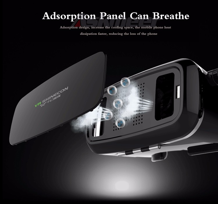 VR Shinecon VR Virtual Reality 3D Glasses Headband Cardboard Headmount Mobile 3D Movie Games for iPhoneSamsung 4.7-6 Smartphone (9)