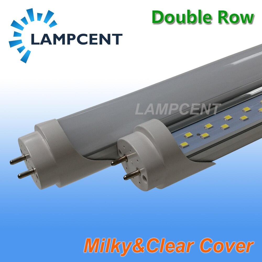 T8 LED Tube ampoule 2ft 3ft 4ft 5ft 6ft Double rangée G13 bi-pin lampe LED lumières de magasin 15/20/25/30 Pack - 5