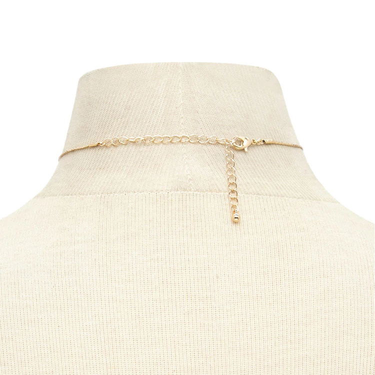 Simple Crescent Moon Pendant Necklace Women Gold Silver Clavicle Chain Choker Necklace Charm Collares Jewelry in Choker Necklaces from Jewelry Accessories