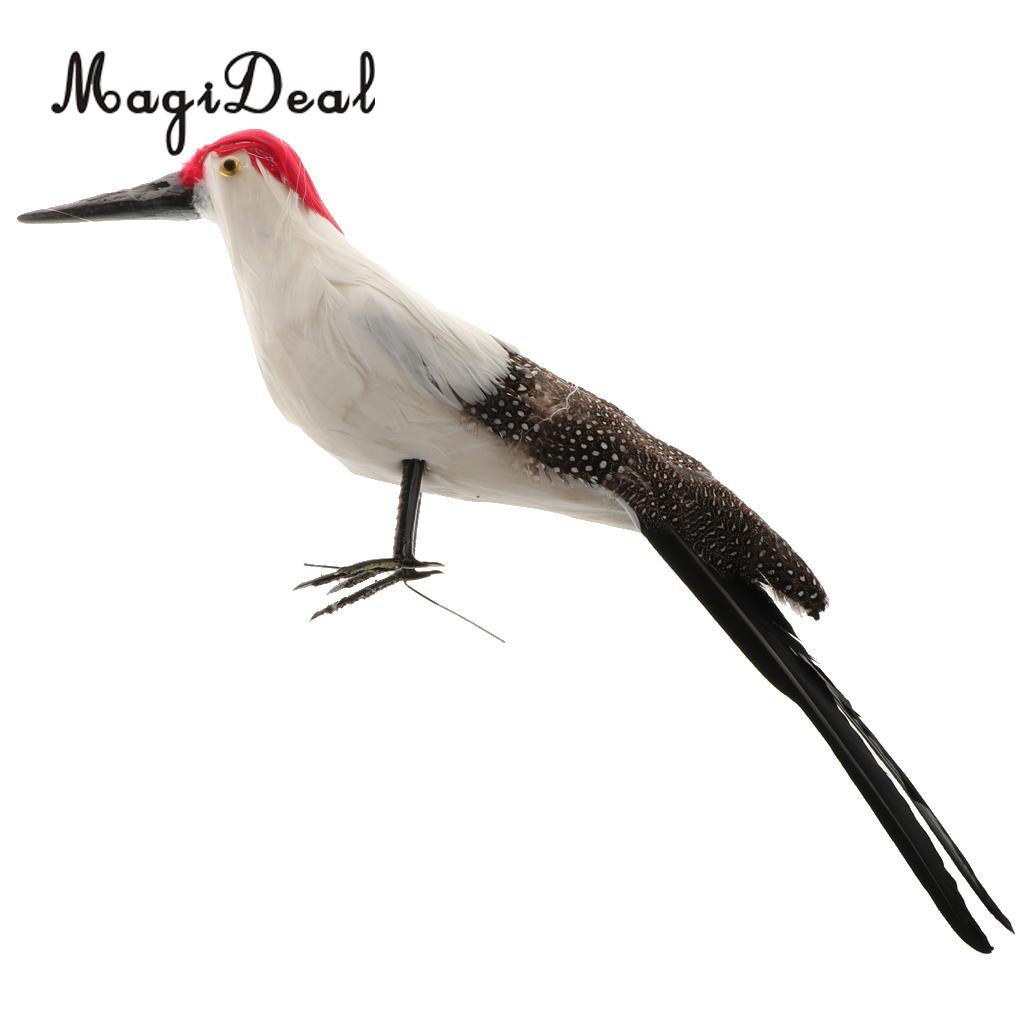 Details about  /Prettyia Feather Bird Fake Woodpecker Figure Garden Home Bonsai Decor Ornament