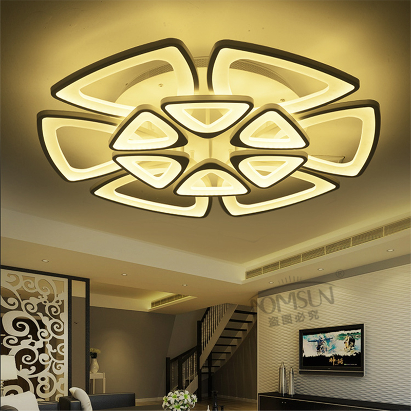 8 heads ceiling lights 120W led light living room ceiling modern bedroom lamp lamparas de techo home fixture lighting light