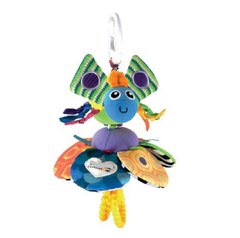 candice guo! Plush toy sunflower bee shape multifunctional bed bell hang ring baby toy rattle gift 1pc