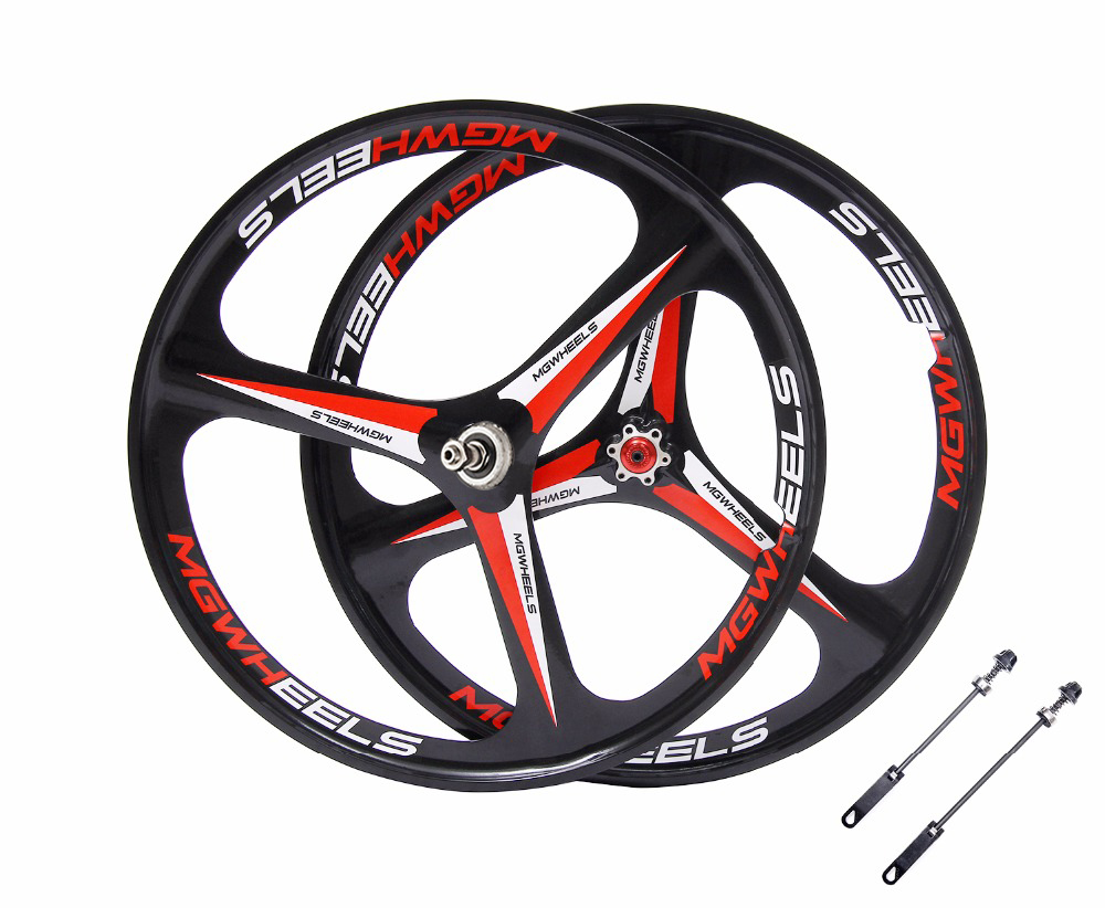 mountain bike wheels 26 Cassette 7/8/9/10 Speeds magnesium alloy MTB 3 spokes wheel Bicycle parts bike rims magnesium alloy road bike 700c wheel 5 spokes fixie bicycle mag tri front rear wheel mag alloy fixed gear bike wheels rims