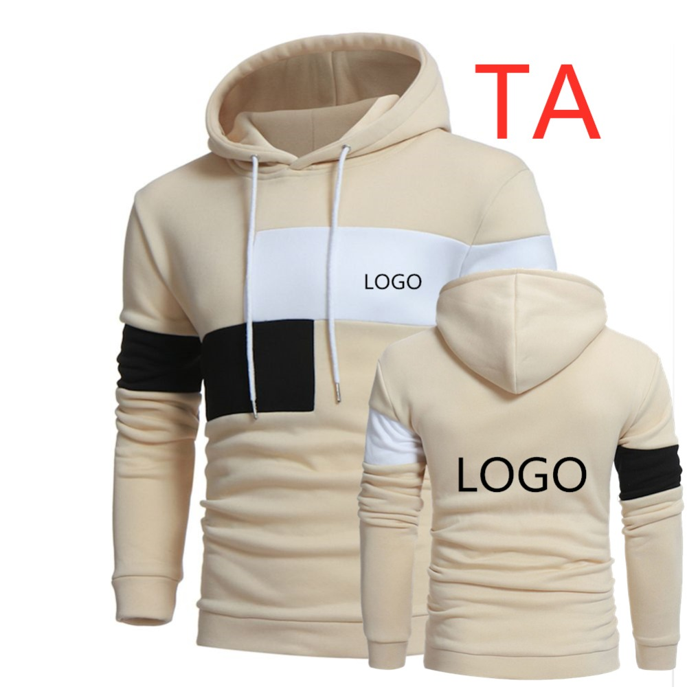 TA Men's Streetwear Hoodies Fashion Hooded Patchwork Sweatshirt For Men Clothing Style Hip Hop Tracksuit Hoody Moletom Masculino