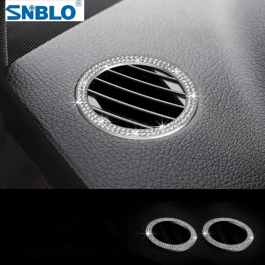 2 pièces Climatisation Sortie Garniture Pour Mercedes Benz GLK X204 2012-2015 Accessoires Intérieurs de voiture