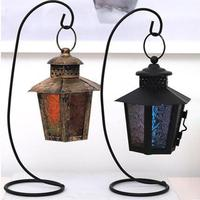 Romantic Candle Holder Retro Iron Moroccan Style Christmas Candlestick Lamp Candleholder Light Wedding Decoration Candlestick 3