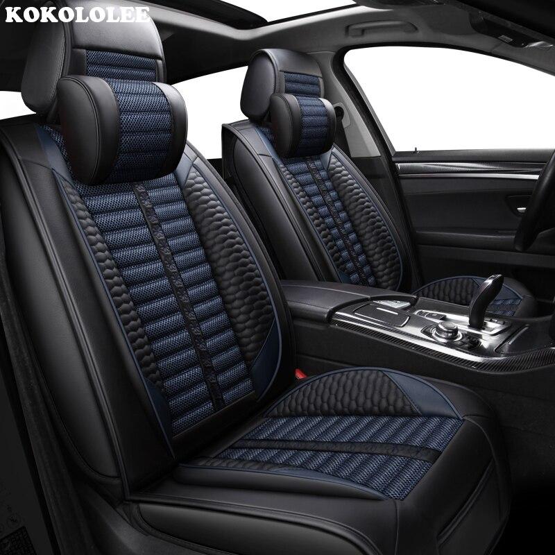 Housses de siège auto KOKOLOLEE pour Volkswagen tous modèles polo golf tiguan Passat jetta touran touareg vw Phaeton Arteon